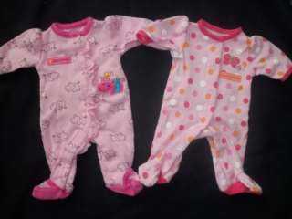 HUGE 15pc clothing lot. Preemie/newborn baby girl. Spring/Summer. EUC