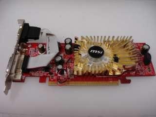 MSI NVidia GeForce 6008071R PCI e 7500LE 256MB 64Bit DVI VGA Desktop