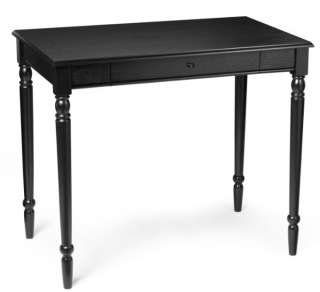 French Country Black Wood Office Computer Desk Table 095285409358
