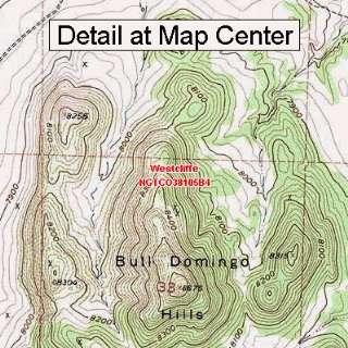 USGS Topographic Quadrangle Map   Westcliffe, Colorado