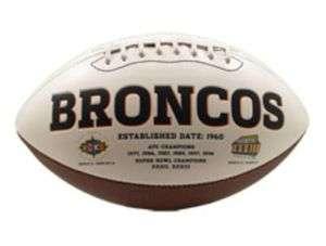 Denver BRONCOS NFL Signature Series Full Size Football