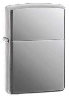 Zippo Windproof Pocket Lighter Black Ice   High Polish Chrome #150