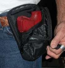 Concealmen Gun Holser Leaher Verical Fanny Pack Bag |