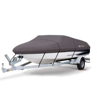 Classic Accessories StormPro Boat Cover Model E in Grey