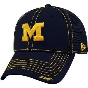 New Era Michigan Wolverines Youth Navy Blue Neo 39THIRTY