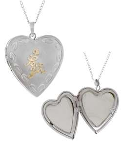 Sterling Silver I Love You Engraved Heart Locket