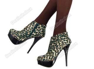 Fashion Vogue Lady Platform Pump High Heels Ankle Booties Shoes