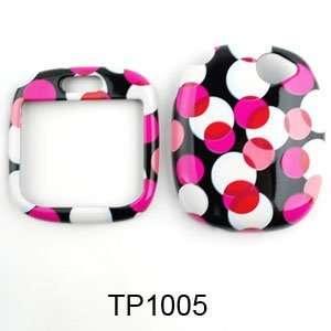 Sharp Kin 1 Muiti Pink Polka Dots on Black Hard Case/Cover