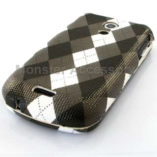 Black Checker Hard Cover Case Samsung Epic 4G Sprint
