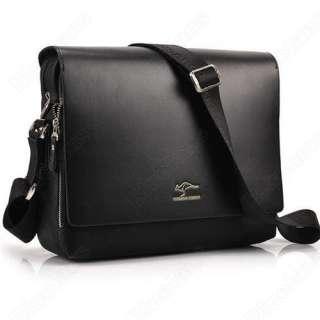 Men Crossbody Shoulder Messenger Bag Briefcase Black M Vertical