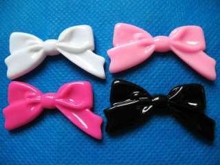20 Large Resin Hair Bow Flatback Button Craft 4 Colors