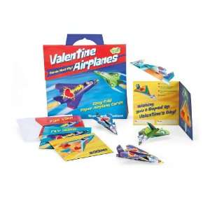 Funny Valentine 28 Card Super Packs, in Paper Airplanes Toys & Games