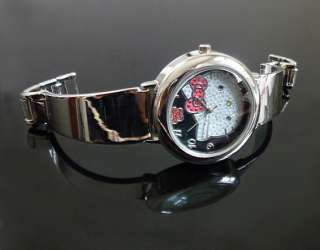 Hello kitty women watch Stainless Steel Watch Band lady girl