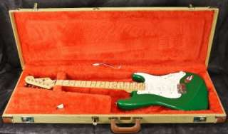 93 Fender USA Eric Clapton Stratocaster Strat Candy Green Guitar w