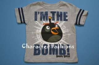 ANGRY BIRDS Short Sleeve Shirt Tee Top Size 4 5 6 7 BOYS 886166221479