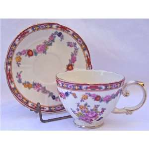 Fine Porcelain China Cup and Saucer Antique Rose By Peppertree