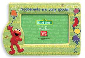 Gund Sesame Street ELMO GODPARENTS picture frame