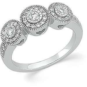 14K White Gold Diamond Anniversary Band Ring DivaDiamonds Jewelry