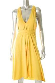 FAMOUS CATALOG Moda Yellow Casual Dress Stretch Convertible L