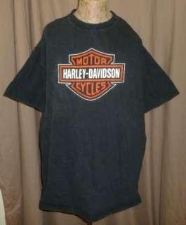 HARLEY DAVIDSON T Shirt VILLA PARK IL Vintage BLACK Motorcycle BIKER