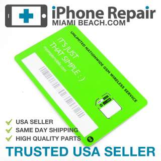 Factory* Micro Sim Card Simple Mobile KIT for iPhone 4