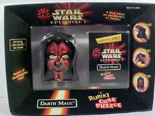 1999 Star Wars Episode I Darth Maul RUBIK CUBE Puzzle New MIB