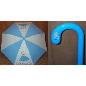 Disney Princess CINDERELLA Blue Childs UMBRELLA: Toys & Games