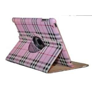 iPad 3 or iPad 2 Grid Stylish 360 Rotating Smart Cover Leather Case