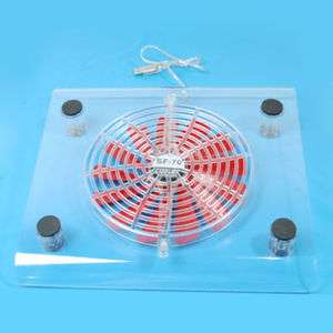 USB Blue LED Notebook Laptop Cooling Pad 1 Fan Cooler