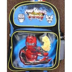 com Power Ranger Jungle Fury Large Full Size 16 Backpack, School Bag