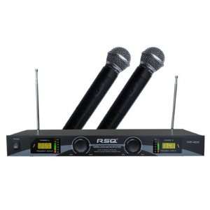 Professional Dual Channel VHF Wireless Microphone System Electronics