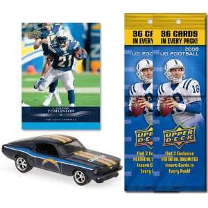 NFL 1967 Ford Mustang Fastback w/ Trading Card & 2 2008 Fat Packs San