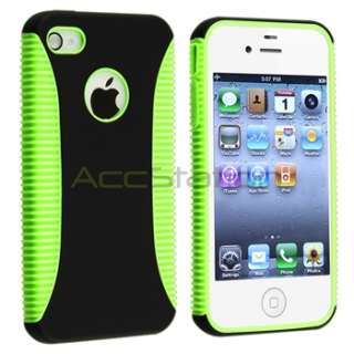 5x Hybrid Rubber TPU Skin/Hard Case Cover For iPhone 4 G 4S Purple