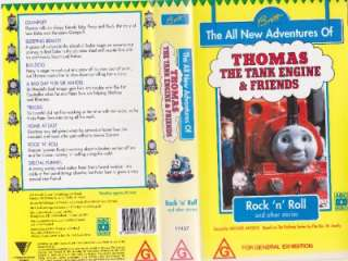 THOMAS THE TANK ENGINE ROCK N ROLL !VHS VIDEO PAL~ A RARE FIND