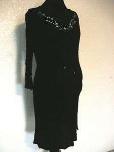Motherhood Maternity Dress Rayon Black Sz S, EUC