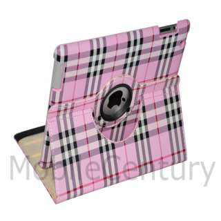 iPad 2 Leopard 360° Rotating Smart Cover Leather Case Swivel Stand