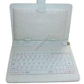 new white/Red/Pink Leather Case of usb Keyboard for 8 inch MID Tablet