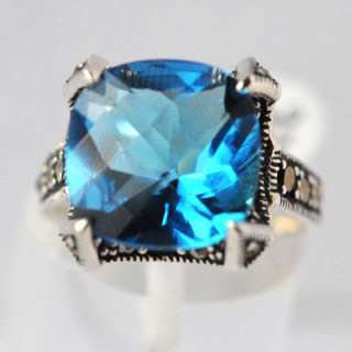 design with beautiful Blue Topaz stone, Sterling Silver Ring