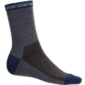 Wool Cycling Socks   Grey w/ Navy Accents   GI SOCK WOOL GYNA Sports
