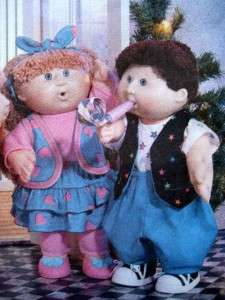 Cabbage Patch DOLL CLOTHES SEWING PATTERN Dress~Party Clothes~Boy/Girl