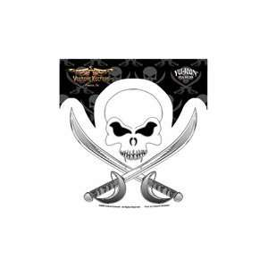 Vulture Kulture   Pirate Skull and Crossbones   Sticker