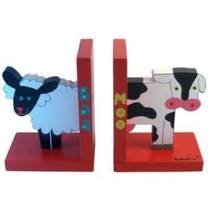 Baa Sheep & Moo Cow Bookends by Tatutina
