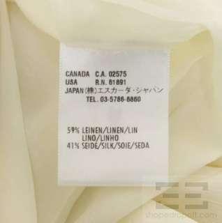 Escada Black Label 2 Piece Cream Linen & Silk Jacket & Skirt Suit Size
