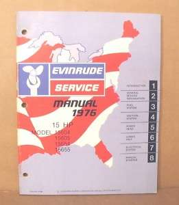1976 Evinrude 15 HP Outboard Factory Service Manual