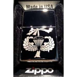 Zippo Custom Lighter   Vietnam Parachute Paratrooper Palm