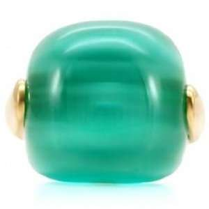 Lyzas Smooth Genuine Turquoise Cat Eye Stone Dome Ring   6 Jewelry
