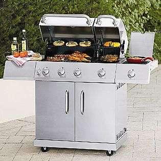 Burner Split Lid Gas Grill with Side Burner  Kenmore Outdoor Living