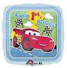 DISNEY CARS 1ST birthday party balloons SET OF 5 First