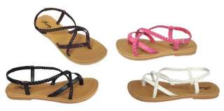 New Infant Toddler Girls Shoes Braided Sandals Sz 6 11*