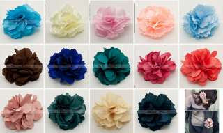 Silky Rose Flower Hat Hair Clip Brooch Pin 5 Colors Available